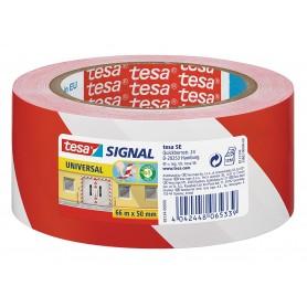 Tesa Cinta Balizamiento Rojo-Blanco 100m x 80mm