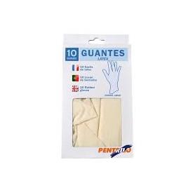 Rulo Pluma guantes latex menaje 10 unidades