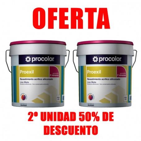 Pack 2 unidades - Procolor Proexil Liso 25Kg Blanco