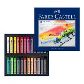 Faber C.Caja Pastel 24 Barras Media