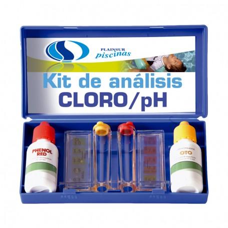 Estuche kit análisis cloro y ph