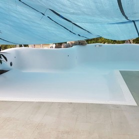Kits revestimiento piscinas de arena cuarzo color blanco - Playa Punta Cana