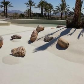 Kits revestimiento piscinas de arena cuarzo color hueso - Playa Flamenco
