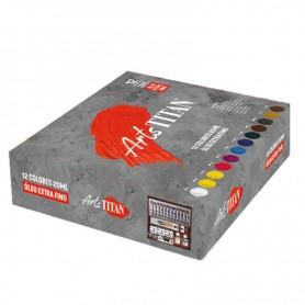Maletín de Pinturas Óleo Goya TITAN Arts -12 tubos de 20ml