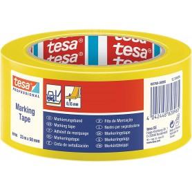 TESA Cinta Señalización temporal serie 60760-33m x 50mm Amarilla