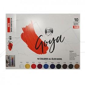 Maletín de Pintura óleo Goya 10 tubos de 60ml + accesorios