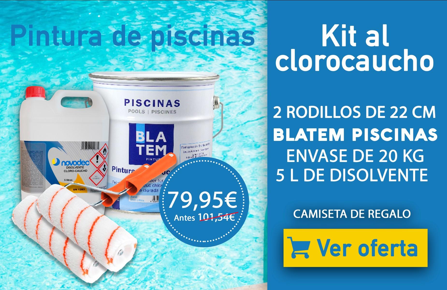 Oferta kit pintura clorocaucho para piscinas