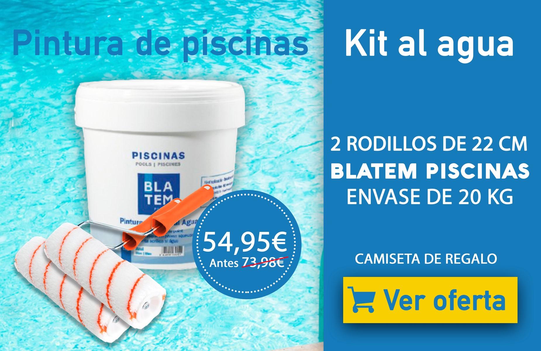 Oferta kit pintura para piscinas al agua
