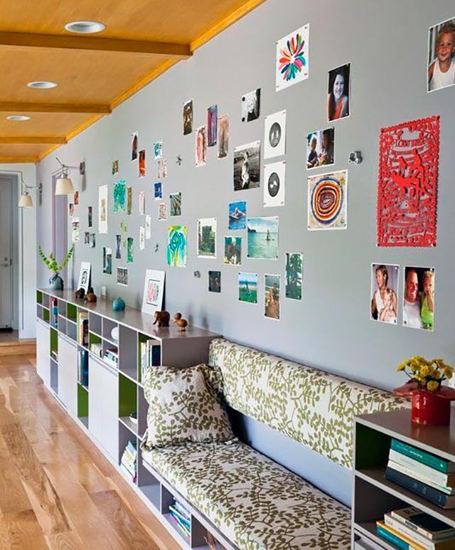 Idea decoración sala de estar con pintura magnética