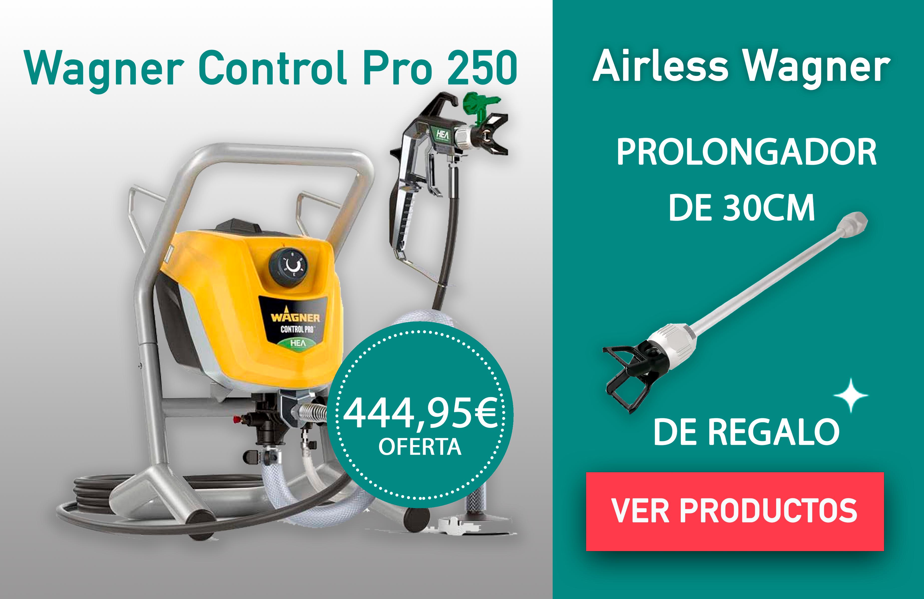 MÁQUINAS AIRLESS CONTROL PRO 250M WAGNER + PROLONGADOR 30CM DE REGALO